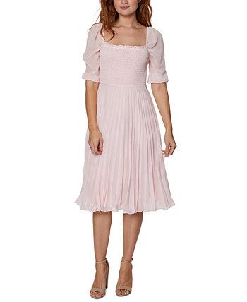 Шифоновое платье миди со сборками и складками BCBGeneration