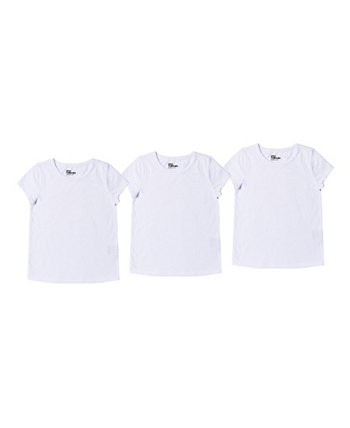 Комплект однотонной базовой футболки для больших девочек, набор из 3 шт. Epic Threads