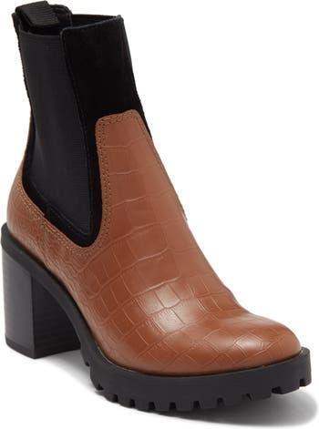 Ботинки челси на подошве с выступом на блочном каблуке DV Footwear