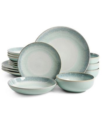 Emporia 16-Piece Double Bowl Dinnerware Set, Service for 4 Laurie Gates
