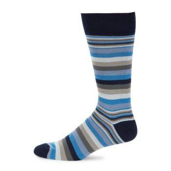 Полосатые носки до середины икры Saks Fifth Avenue