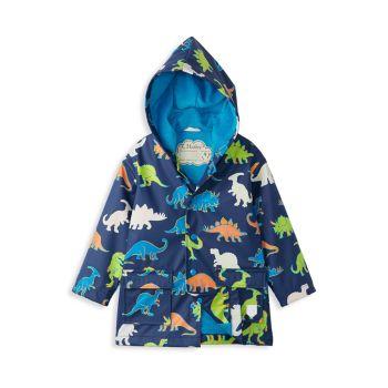 Little Boy's & Boy's Dinos Color Changing Raincoat Hatley
