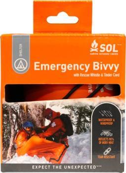 Аварийная палатка со спасательным свистком и шнуром Tinder SOL