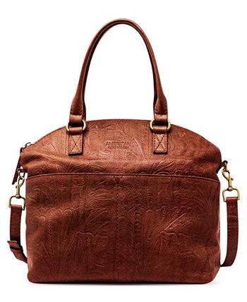 Кожаная сумка-портфель Carrie с куполом AMERICAN LEATHER CO.