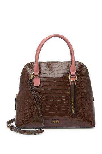 Кожаная сумка-портфель Rachel с тиснением под крокодиловую кожу Frances Valentine