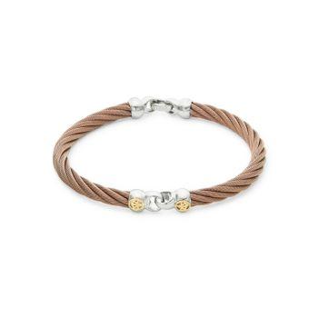 18-каратное золото & amp; Браслет из бронзового шнура ALOR
