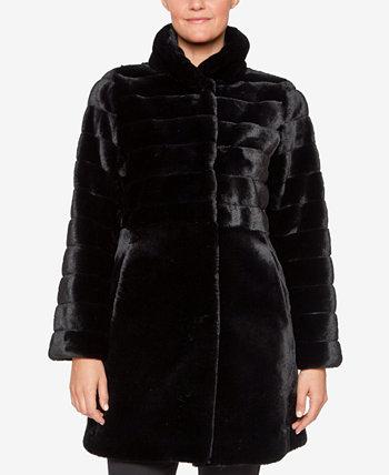 Пальто из искусственного меха с воротником-стойкой Jones New York