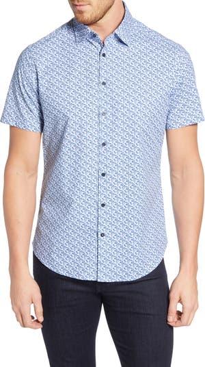 Спортивная рубашка стандартного кроя с геометрическим принтом Stone Rose