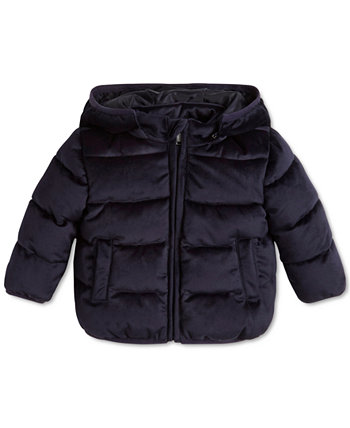 Бархатная стеганая куртка для маленьких мальчиков GUESS