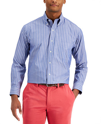 Классическая мужская классическая рубашка в тонкую полоску, созданная для Macy's Club Room