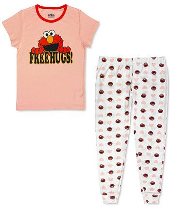 Женский семейный пижамный комплект Elmo Free Hugs Sesame Street