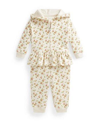 Велюровая худи и брюки для маленьких девочек, комплект из 2 предметов Ralph Lauren