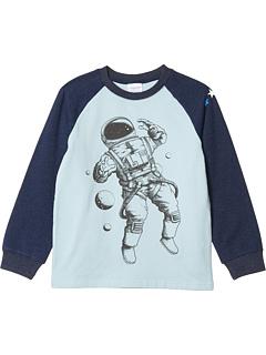 Бейсбольная футболка с принтом космонавтов (для малышей / маленьких детей / больших детей) Toobydoo