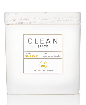 Свеча Fresh Linens, 8 унций. CLEAN Fragrance