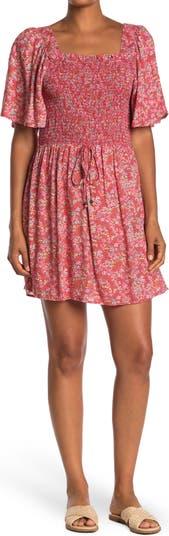 Платье со сборным лифом и цветочным принтом Nostalgia Apparel
