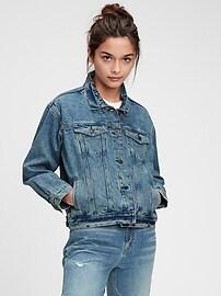 Джинсовая куртка оверсайз для подростков Gap