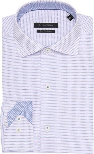 Классическая рубашка с геометрическим принтом BUGATCHI
