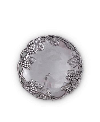 Алюминиевый круглый поднос с виноградом Designs Arthur Court