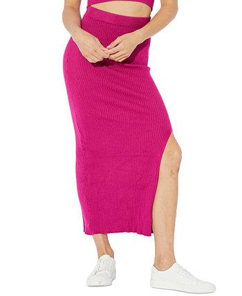 Mona Ribbed-Knit Midi Skirt MINKPINK