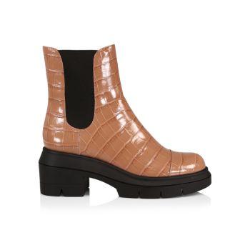 Кожаные ботинки с тиснением Norah Stuart Weitzman