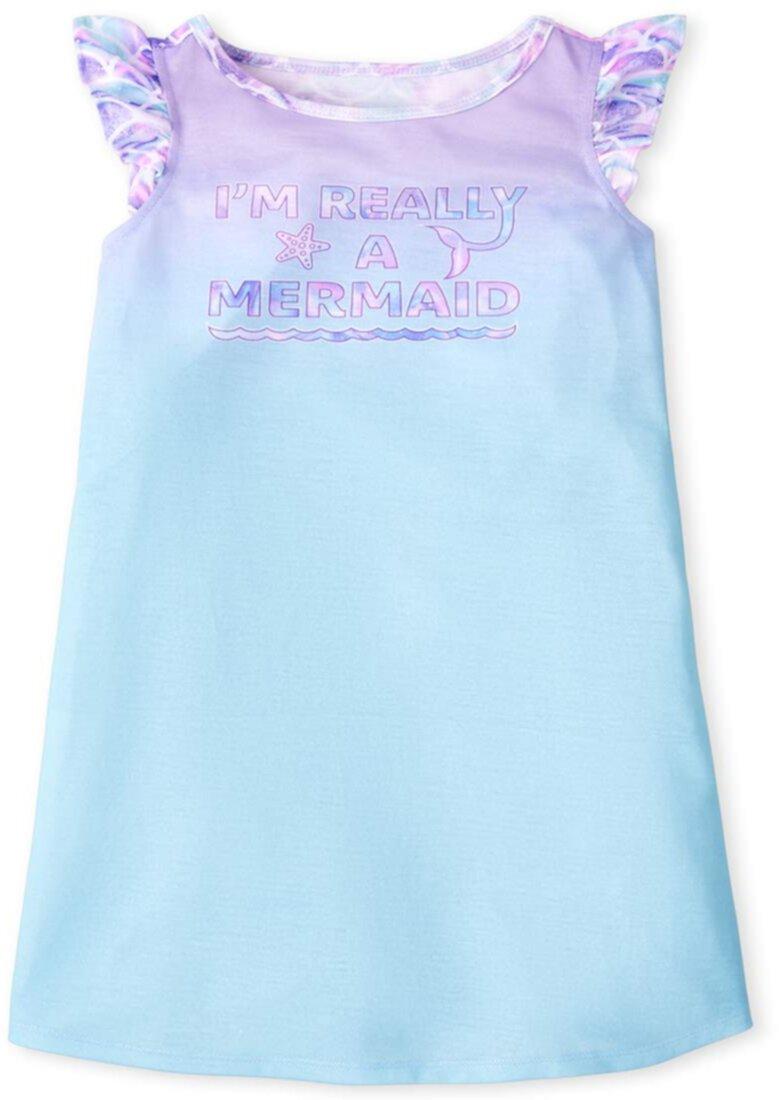 Ночная рубашка с русалкой (для маленьких / больших детей) The Children's Place