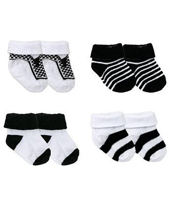 Детские носки в коробке для мальчиков и девочек, 4 шт. В упаковке Amor Bebe