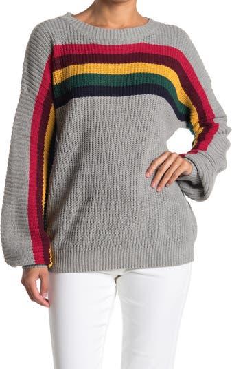 Вязаный свитер в полоску на груди Wishlist