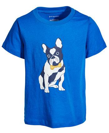 Хлопковая футболка с красивым щенком для маленьких мальчиков, созданная для Macy's First Impressions