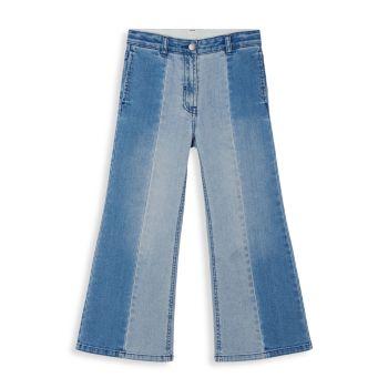 Маленькая девочка & amp; Двухцветные расклешенные джинсы для девочек Stella McCartney Kids