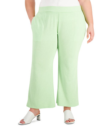 Plus Size Pull-On Flared Ankle Pants, Created for Macy's Alfani