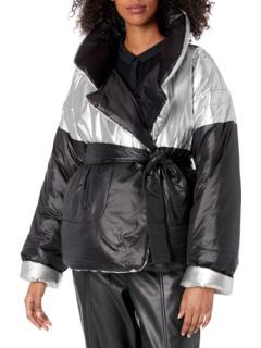 Двустороннее пальто для спального мешка с сращиванием, короткое Norma Kamali