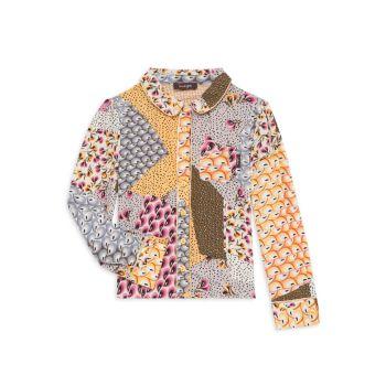 Маленькая девочка & amp; Рубашка с принтом в стиле пэчворк для девочек Sweet Harmony Imoga