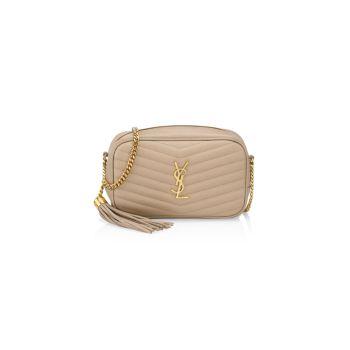 Кожаная сумка Mini Lou Matelassé для фотоаппарата Saint Laurent