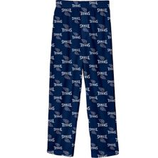 Цветные пижамные брюки с принтом Youth Navy Tennessee Titans Team Outerstuff