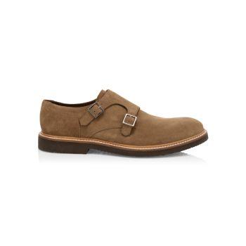 Замшевые туфли с двойным ремешком-монахом Eleventy