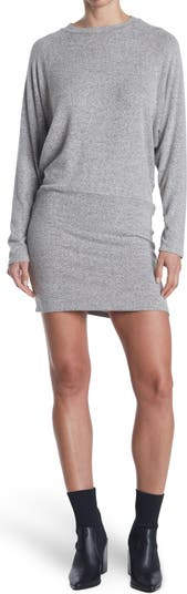 Banded Knit Long Sleeve Sweater Dress Vanity Room