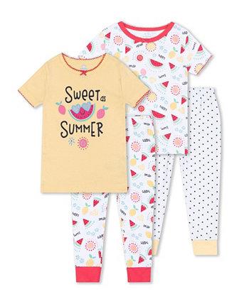 Одежда для сна с арбузом для маленьких девочек, комплект из 4 предметов Koala baby