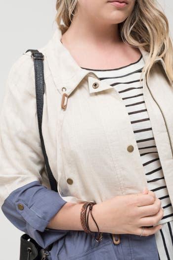 Куртка в стиле милитари на длинной подкладке Perch by Blu Pepper