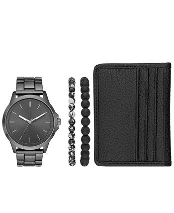 Мужские наручные часы из нержавеющей стали с металлическим браслетом, 44 мм, подарочный набор Folio