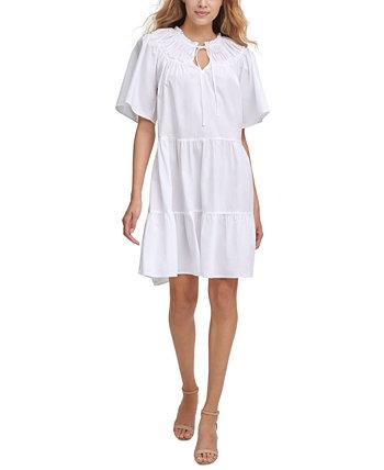 Многослойное платье бэбидолл из хлопка Kensie