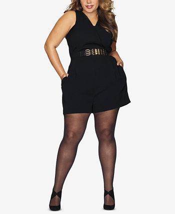 Черные колготки больших размеров Curves Hanes
