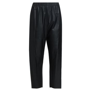 Укороченные брюки из искусственной кожи MM6 Maison Margiela