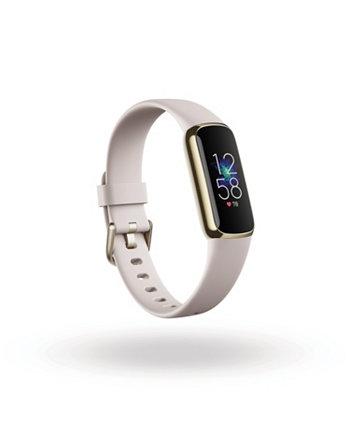Роскошный фитнес-трекер из мягкого золота с браслетом Lunar White Fitbit