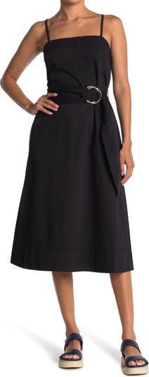 Платье трапециевидной формы с поясом CLUB MONACO