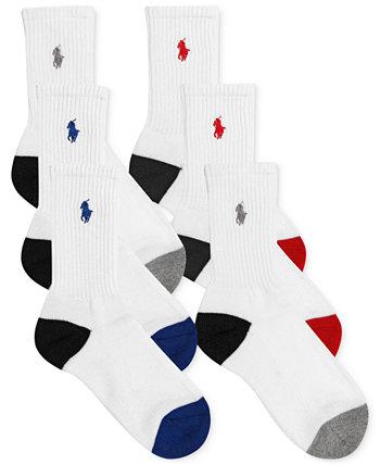 6-Рк. Цветные носки для экипажа, маленькие мальчики и большие мальчики Ralph Lauren