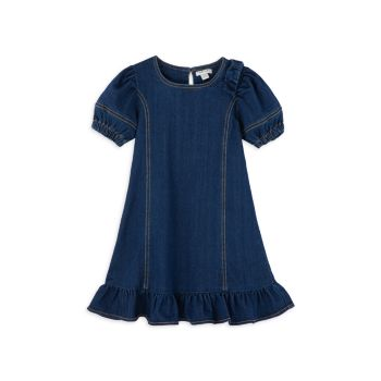 Little Girl's Denim Flounce Dress Habitual