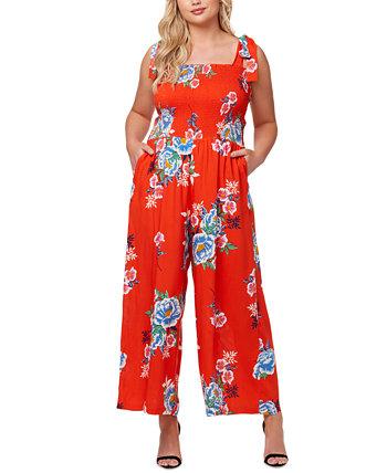 Plus Size Romie Ruched Jumpsuit Jessica Simpson