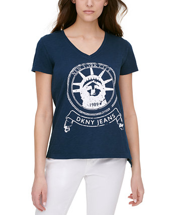 Cotton Graphic T-Shirt DKNY Jeans