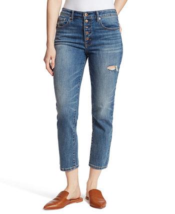 Рваные джинсы прямого кроя Ella Moss