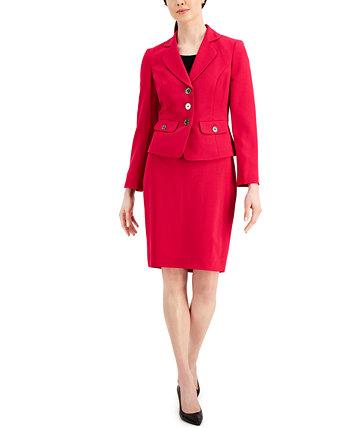 Костюм с юбкой с зазубренными лацканами Le Suit